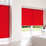 czerwone rolety