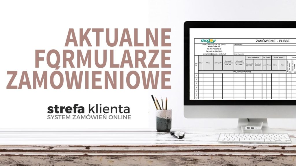 aktualne formularze zamówieniowe