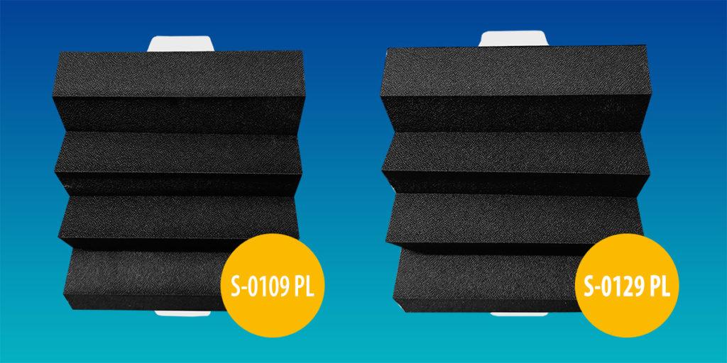 tkaniny plisowane S-0109PL i S-0129PL
